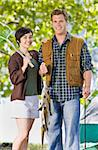 Couple fishing Stock Photo - Royalty-Free, Artist: avava, Code: 400-04167774