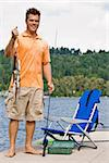 Man fishing in pier Stock Photo - Royalty-Free, Artist: avava, Code: 400-04168552