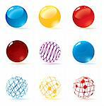 Cool vector spheres for your artwork.
