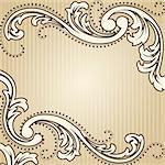 Elegant sepia tone background inspired by Victorian era designs. Graphics are grouped and in several layers for easy editing. The file can be scaled to any size. Stock Photo - Royalty-Free, Artist: KarolinaL, Code: 400-04172919