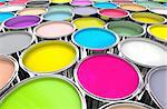 3d image of 3d paint tank background Stock Photo - Royalty-Free, Artist: tiero, Code: 400-04173699