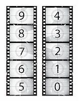 Old film strip countdown.  Please check my portfolio for more film illustrations. Stock Photo - Royalty-Freenull, Code: 400-04173861