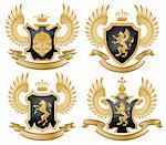 Coat of arms. Vector illustration. Stock Photo - Royalty-Free, Artist: CelloFun, Code: 400-04175102