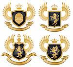 Coat of arms. Vector illustration. Stock Photo - Royalty-Free, Artist: CelloFun, Code: 400-04175410