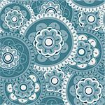 Blue Mandala Seamless Pattern Tile Stock Photo - Royalty-Free, Artist: eyestalk, Code: 400-04177015