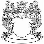Coat of Arms Vector Illustration.  Colors are easily editable. Stock Photo - Royalty-Free, Artist: eyestalk, Code: 400-04177109