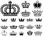 Vector Crown Icon Set.  Colors are easily editable. Stock Photo - Royalty-Free, Artist: eyestalk, Code: 400-04177110
