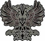 fancy eagle beaded artwork Stock Photo - Royalty-Free, Artist: thebestisyettocome, Code: 400-04177576