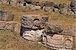 Assortment of masks from the ruins of Codz-Poop (Palace of Masks), Kabah, Yucatan, Mexico Stock Photo - Royalty-Free, Artist: oralleff, Code: 400-04177961