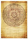 Maya calendar on ancient parchment Stock Photo - Royalty-Free, Artist: frenta, Code: 400-04179420
