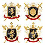 Coat of arms. Vector illustration. Stock Photo - Royalty-Free, Artist: CelloFun, Code: 400-04180613