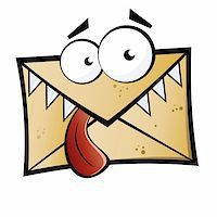 Funny cartoon letter monster Stock Photo - Royalty-Freenull, Code: 400-04180849