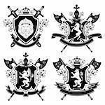 Coat of arms. Vector illustration. Stock Photo - Royalty-Free, Artist: CelloFun, Code: 400-04184759