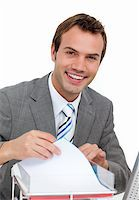 Smiling mature businessman Stock Photo - Royalty-Freenull, Code: 400-04188057