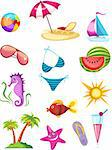 vector illustration of a travel icon set Stock Photo - Royalty-Free, Artist: nem4a, Code: 400-04190752
