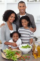 Family Preparing meal Stock Photo - Royalty-Freenull, Code: 400-04192488