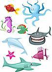 vector illustration of a sea set Stock Photo - Royalty-Free, Artist: nem4a, Code: 400-04197503
