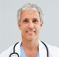 Close up of a happy senior Doctor in a hospital Stock Photo - Royalty-Freenull, Code: 400-04198400