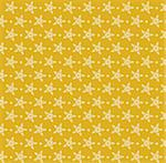 drawing of beige flower in a yellow background