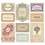 set of vintage labels; scalable and editable vector illustrations; Stock Photo - Royalty-Free, Artist: milalala, Code: 400-04204770