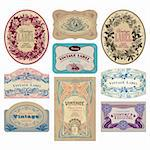 set of vintage labels. also available as a scalable and editable vector illustration. Stock Photo - Royalty-Free, Artist: milalala, Code: 400-04204771