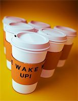 3D render of a group of disposable coffee cups Stock Photo - Royalty-Freenull, Code: 400-04205073