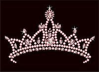 Beautiful shining true princess crown Stock Photo - Royalty-Freenull, Code: 400-04205265