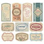 set of vintage labels, scalable and editable vector illustrations; Stock Photo - Royalty-Free, Artist: milalala, Code: 400-04205591