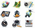 Set of the detailed satellite navigation icons Stock Photo - Royalty-Free, Artist: tele52, Code: 400-04205960