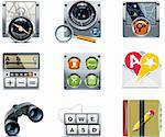 Set of the detailed satellite navigation icons Stock Photo - Royalty-Free, Artist: tele52, Code: 400-04205961