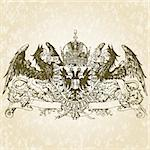 Detailed gothic griffin illustration. Easy to change colors. Stock Photo - Royalty-Free, Artist: createfirst, Code: 400-04209637