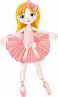 Illustration of  Little Cute  ballerina with pink dress Stock Photo - Royalty-Freenull, Code: 400-04210409