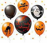 Halloween balloon set for your design Stock Photo - Royalty-Free, Artist: Dazdraperma, Code: 400-04213715