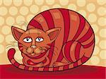 Vector illustration of sleepy Red Cat Stock Photo - Royalty-Free, Artist: izakowski, Code: 400-04214446