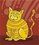 Illustration of smiling Yellow Cat Stock Photo - Royalty-Free, Artist: izakowski, Code: 400-04214447
