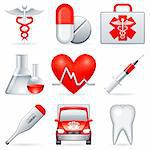Set of 9 medical icons. Stock Photo - Royalty-Free, Artist: timurock, Code: 400-04214596