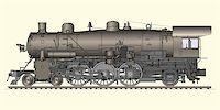 Vector illustration of old locomotive Stock Photo - Royalty-Freenull, Code: 400-04214715