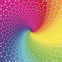 Abstract design with geometric shapes optical illusion illustration Stock Photo - Royalty-Freenull, Code: 400-04214716