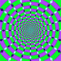 Abstract design with geometric shapes optical illusion illustration Stock Photo - Royalty-Freenull, Code: 400-04214719