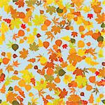 Seamless pattern with autumn leafs. EPS 8 vector file included Stock Photo - Royalty-Free, Artist: ghostintheshell, Code: 400-04215439