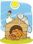 Illustration of Happy farm animals Stock Photo - Royalty-Free, Artist: izakowski, Code: 400-04216503