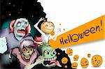 Nice illustration of a scary movie - helloween is here Stock Photo - Royalty-Free, Artist: emaria, Code: 400-04217017