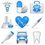 Set of 9 medical icons. Stock Photo - Royalty-Free, Artist: timurock, Code: 400-04218185