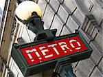 Metro sign in Paris, France Stock Photo - Royalty-Free, Artist: csp, Code: 400-04218469