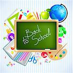back to school vector background Stock Photo - Royalty-Free, Artist: avian, Code: 400-04219659