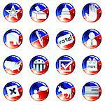 Set of glossy round buttons about politics. Graphics are grouped and in several layers for easy editing. The file can be scaled to any size. Stock Photo - Royalty-Free, Artist: KarolinaL, Code: 400-04219811