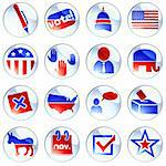 Set of glossy round buttons about politics. Graphics are grouped and in several layers for easy editing. The file can be scaled to any size. Stock Photo - Royalty-Free, Artist: KarolinaL, Code: 400-04219812