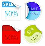 Set of fresh two colors sale labels and stickers Stock Photo - Royalty-Free, Artist: orsonsurf, Code: 400-04220888