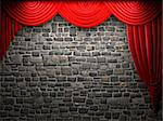 Red velvet curtain opening scene made in 3d Stock Photo - Royalty-Free, Artist: icetray, Code: 400-04220935