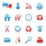 Set of vector icons for web design Stock Photo - Royalty-Free, Artist: camucamu, Code: 400-04221008